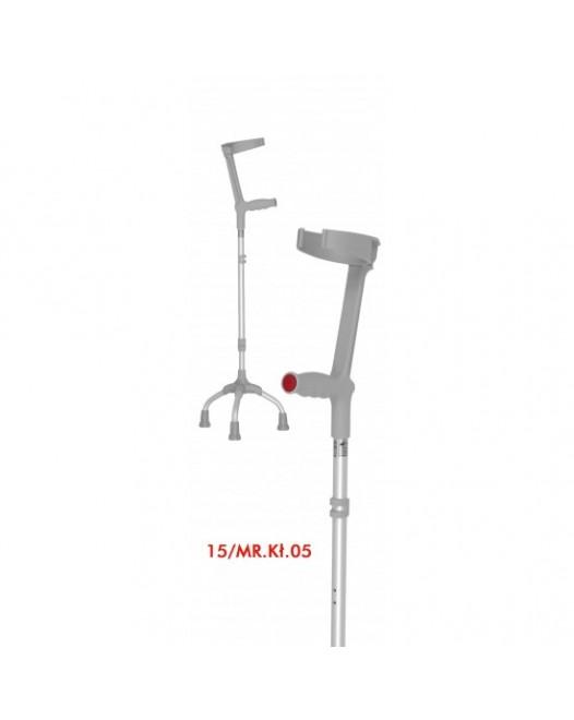 Костыль локтевой трёхопорный 15/MR.KL.05 с откидной опорой